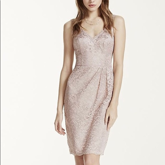 f8eafb98a6d5f David's Bridal Dresses | Davids Bridal Dress Rose Gold Metallic Size ...